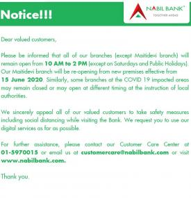 Nabil Branch Opening Hours