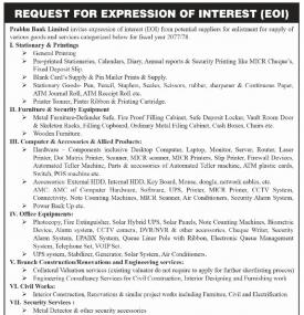 Request for Expression of Interest (EOI)