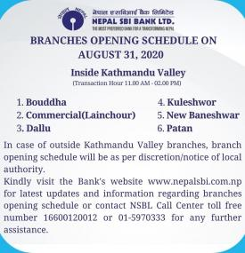 Branch Opening Notice