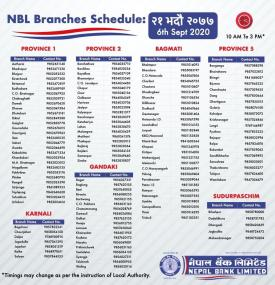 NBL Branch Opening Hours