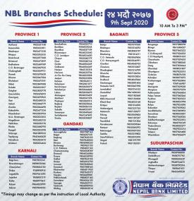 NBL Branch Opening Notice