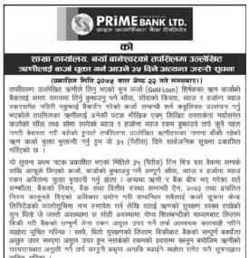Loan Payment Notice
