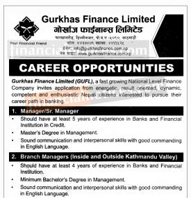 Career Opportunity !!!
