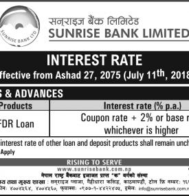 Interest Rates Notice