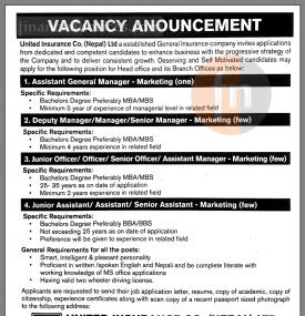 Vacancy Announcement !!!