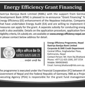 Energy Efficiency Grant Financing- RBB