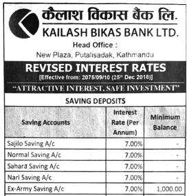 Revised Interest Rate