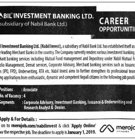Career Opportunity - Nabil