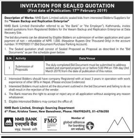 Invitation for Sealed Quotation