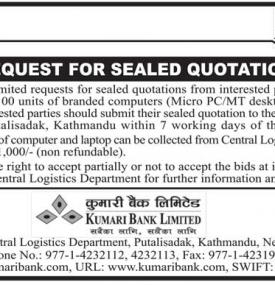 Request for Sealed Quotation
