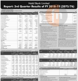 3rd Quater Financial Result