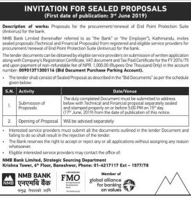 Invitation for sealed proposals