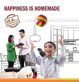 Happiness is Homemade. Avail Home Loan at just 10.5%* (Fixed for 3 years)