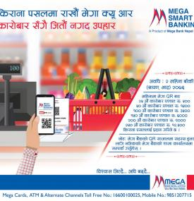 Mega Smart Banking (for detail info:  Toll Free No. 16600100025, Mob. 9851207715)