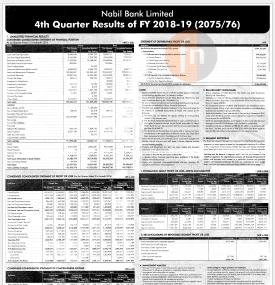 4th Quarter Financial Result