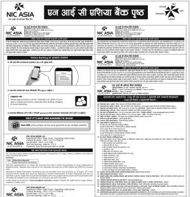 Nic Asia Bank Notice