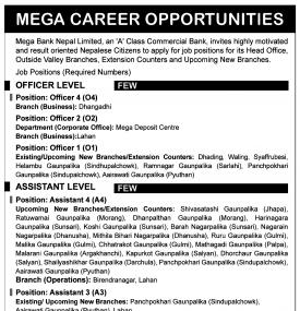 Mega Career Opportunities