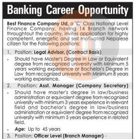Banking Career Opportunity