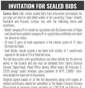 Invitation for Sealed Bids
