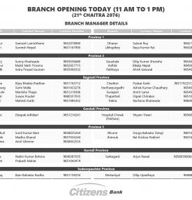 Branch Opening Today