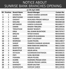 Banking Service Notice